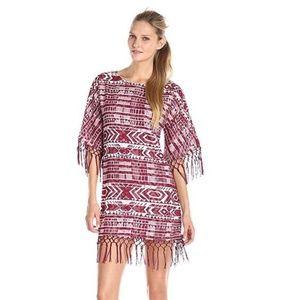 Sam Edelman Geometric Print Fringe Dress L
